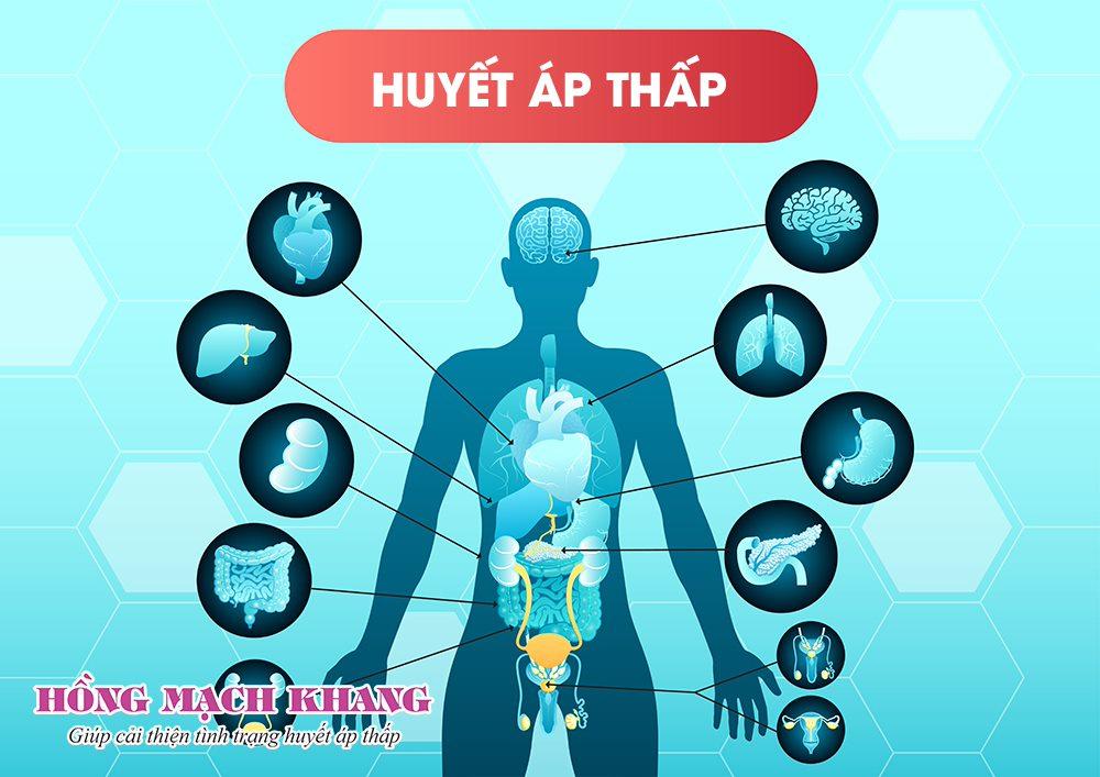 Huyết áp thấp làm ảnh hưởng đến chức năng tất cả các cơ quan